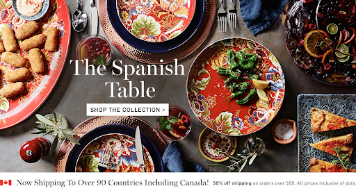 ecommerce site hero image example