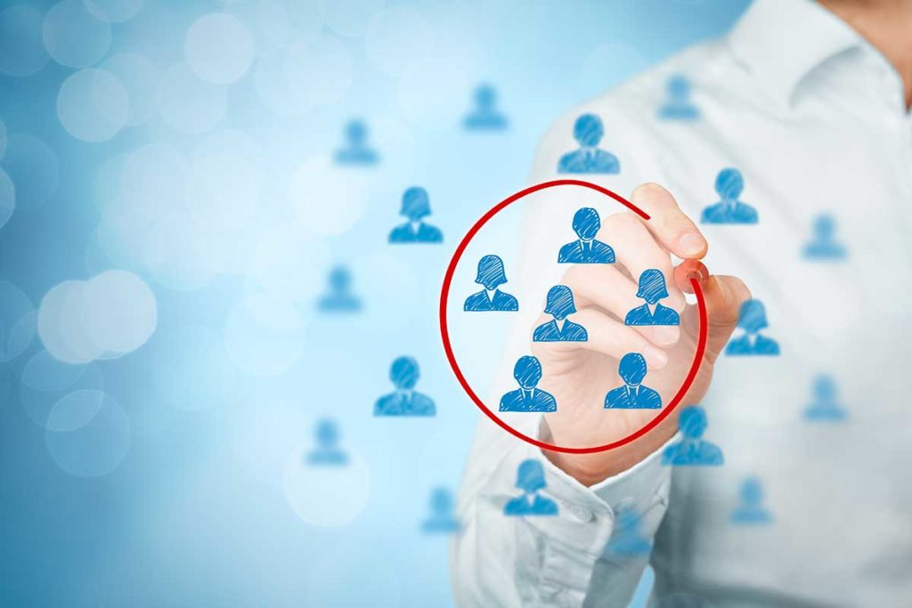 segmenting a customer group